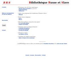 Bibliothèque russe et slave - Liens