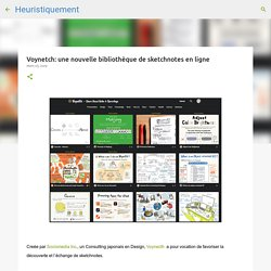 Voynetch: une nouvelle bibliothèque de sketchnotes en ligne