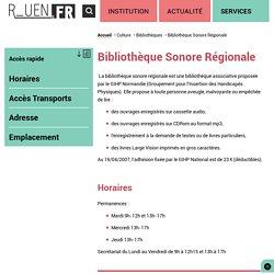 Bibliothèque Sonore Régionale
