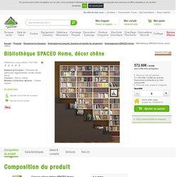 Bibliothèque SPACEO Home, décor chêne