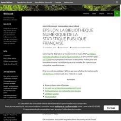 Epsilon, la bibliothèque numérique de la statistique publique française