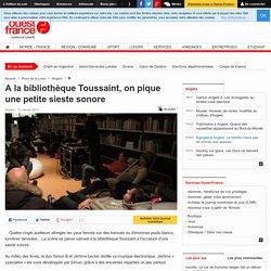 A la bibliothèque Toussaint, on pique une petite sieste sonore