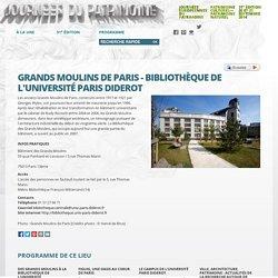 GRANDS MOULINS DE PARIS - BIBLIOTHÈQUE DE L'UNIVERSITÉ PARIS DIDEROT