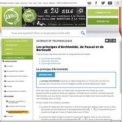 Bibliothèque virtuelle Les principes d'Archimède, de Pascal et de Bernoulli