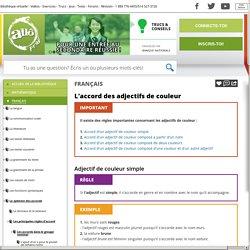 Bibliothèque virtuelle L'accord des adjectifs de couleur