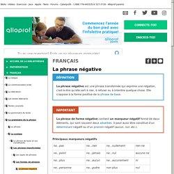 Bibliothèque virtuelle La phrase négative