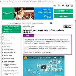 Bibliothèque virtuelle Le participe passé suivi d'un verbe à l'infinitif