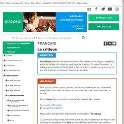 Bibliothèque virtuelle La critique