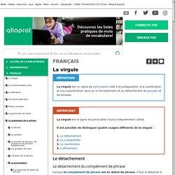 Bibliothèque virtuelle La virgule