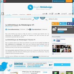 La bibliothèque du Webdesigner #1