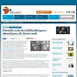 Portails web des bibliothèques : abondance de biens nuit