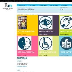 Site des bibliothèques de Nantes - Accessibilité