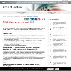 Bibliothèques et accessibilité - Livre et Lecture