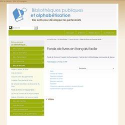 Fonds de livres en français facile - Bibliothèques publiques et alphabétisation