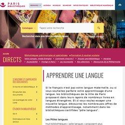 Bibliothèques de la Ville de Paris_Pôle langues