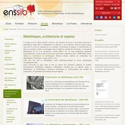 ENSSIB Histoire des biblio (suite)