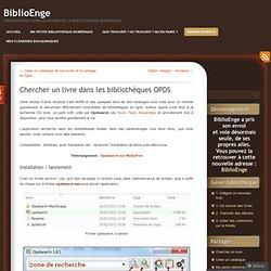 Chercher un livre dans les bibliothèques OPDS « BiblioEnge