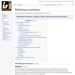 Bibliothèques numériques — Bibliopedia