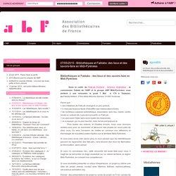 07/05/2015 - Bibliothèques et Fablabs: des lieux et des savoirs-faire en Midi-Pyrénées - Association des Bibliothécaires de France - Groupe régional Midi-Pyrénées