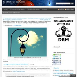 Les bibliothèques numériques dans les nuages sont-elles compatibles avec les missions de lecture publique ? La veille apprivoisée #13