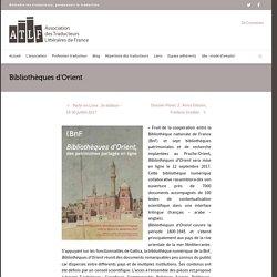 Bibliothèques d'Orient