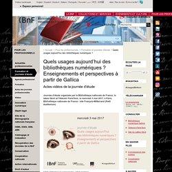 Bibliothèque numérique_Quels usages aujourd'hui des bibliothèques numériques ?_Journée d'étude_BNF...