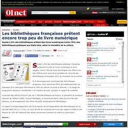 Les bibliothèques françaises prêtent encore trop peu de livre numérique