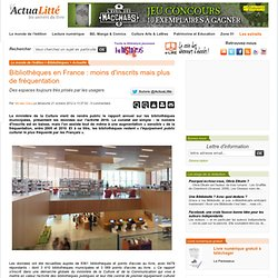 Bibliothèques en France : moins d'inscrits mais plus de fréquentation