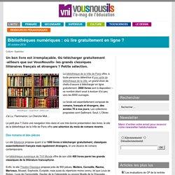 Bibliothèques numériques : où lire gratuitement en ligne ?