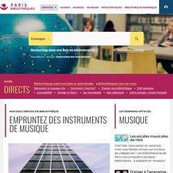 Bibliothèques de la Ville de Paris -Yourenar Empruntez des instruments !