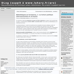 10 points lecture publique intercommunale
