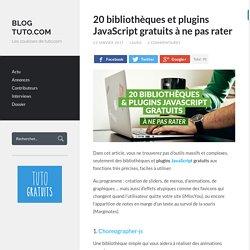20 bibliothèques et plugins JavaScript gratuits à ne pas rater - Blog Tuto.com