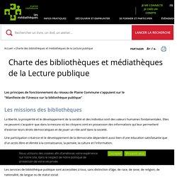 Charte des bibliothèques et médiathèques de la Lecture publique