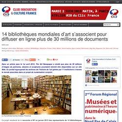 14 bibliothèques mondiales d'art s'associent pour diffuser en ligne plus de 30 millions de documents