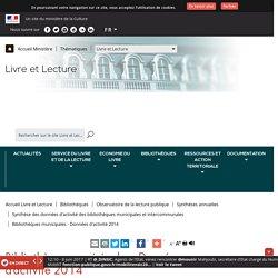 Bibliothèques municipales - Données d'activité 2014