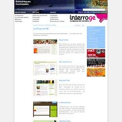 Bibliothèques Municipales de la Ville de Genève - Découvrir nos blogs