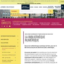 Bibliothèques de la Ville de Paris - Livres numériques, liseuses et tablettes