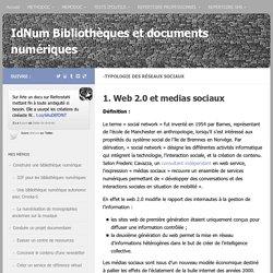 -Typologie des réseaux sociaux - IdNum Bibliothèques et documents numériques