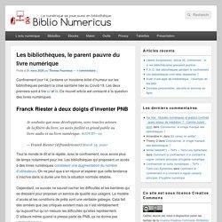 Les bibliothèques, le parent pauvre du livre numérique - Biblio Numericus