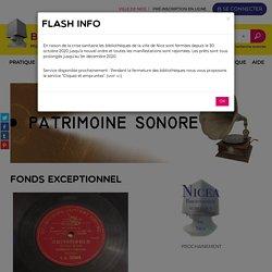 NICE : Patrimoine Sonore des Bibliothèques de Nice -