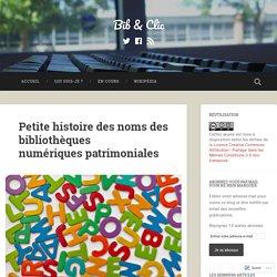 Petite histoire des noms des bibliothèques numériques patrimoniales – Bib & Clic