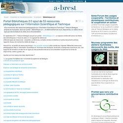 Portail Bibliothèques 2.0 ajout de 53 ressources pédagogiques sur l'Information Scientifique et Technique