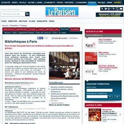 Bibliothèques à Paris - Pratique