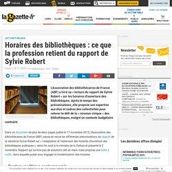 Horaires des bibliothèques : ce que la profession retient du rapport de Sylvie Robert