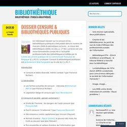 Dossier Censure & bibliothèques publiques