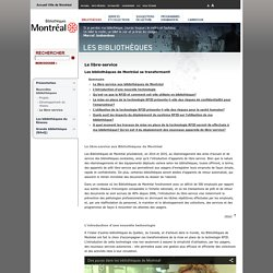 Réseau des bibliothèques publiques de Montréal - Le libre-service