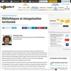 Bibliothèques et réorganisation territoriale