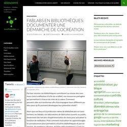 Fablabs en bibliothèques: documenter une démarche de cocréation