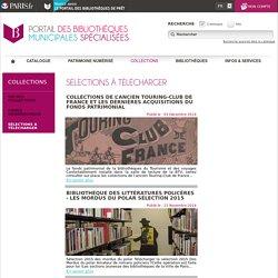 Sélections à télécharger - Bibliothèques spécialisées