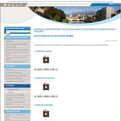Tous les tutoriels - Bibliothèques Sciences et Technologies, Santé, Professorat Education de Université Grenoble Alpes et de Grenoble INP